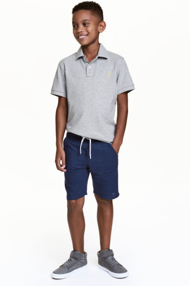 Elasticated shorts - Dark blue - Kids | H&M CN 1