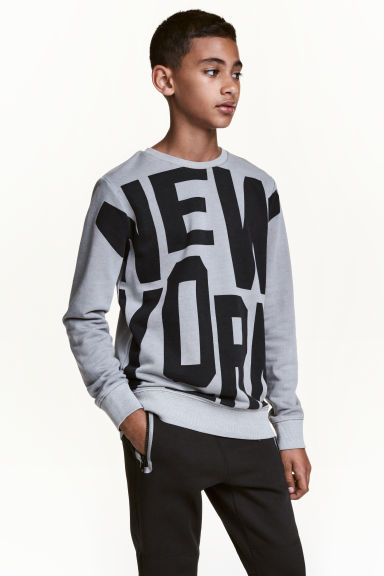 Printed sweatshirt - Grey/New York -  | H&M CN 1