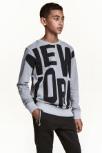 Sweat avec impression - Gris/New York - ENFANT | H&M FR 1
