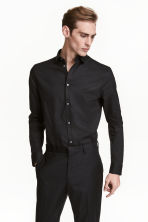 Premium cotton shirt - Black - Men | H&M CN 2