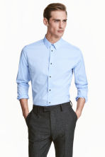 Stretch shirt Slim fit - Light blue - Men | H&M 1