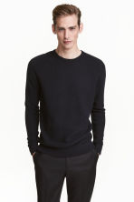 Premium cotton jumper - Dark blue - Men | H&M 1