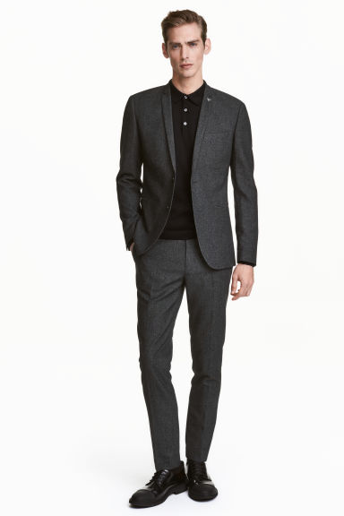 Suit trousers Skinny fit - Dark grey marl - Men | H&M CN 1