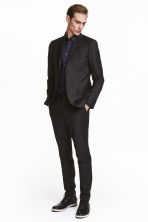 Wool suit trousers Slim fit - Black - Men | H&M CN 1