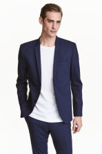 Wool jacket Skinny fit - Navy blue - Men | H&M 1