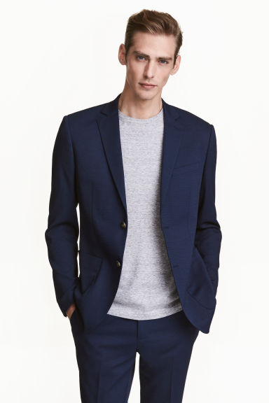 Jacket Slim fit - Navy blue - Men | H&M CN 1