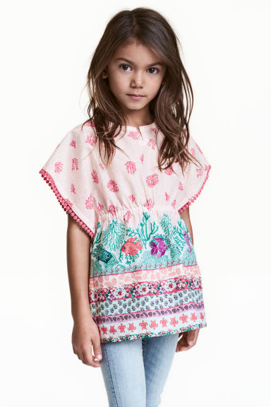 Cotton tunic - White/Fish - Kids | H&M CN 1