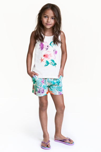 Jersey shorts - Light pink/Fish - Kids | H&M CN 1
