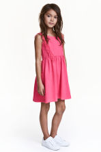 Jersey dress with fringes - Neon pink - Kids | H&M 1