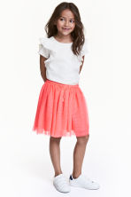 Tulle skirt with glitter - Neon pink -  | H&M 1