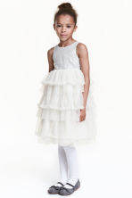 Tulle dress with sequins - Natural white - Kids | H&M 1