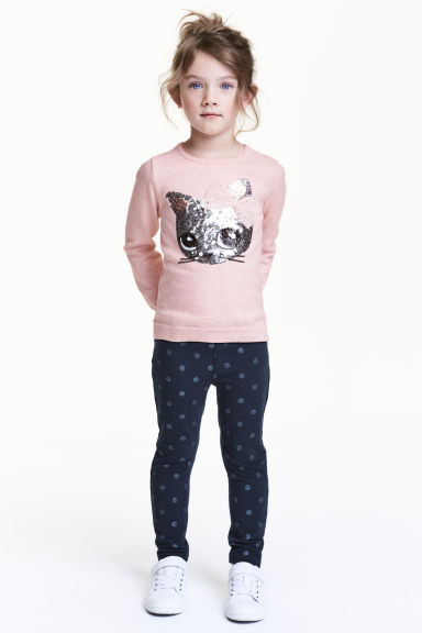 Treggings - Dark blue/Spotted - Kids | H&M 1
