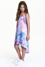 Patterned jersey dress - Pink/Purple - Kids | H&M CN 1