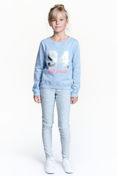 Treggings - Blu denim chiaro/stelle - BAMBINO | H&M IT 1