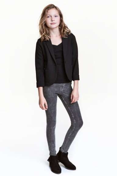 Treggings - Mörkgrå washed out - Kids | H&M FI 1