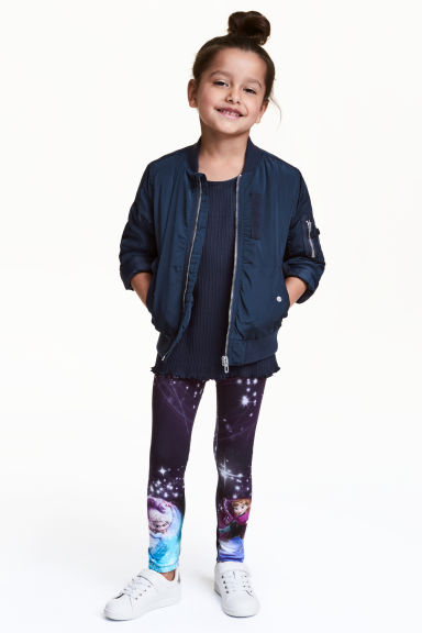 Leggings in jersey - Blu scuro/Frozen - BAMBINO | H&M IT 1