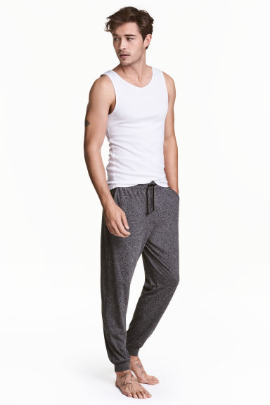 Jersey pyjama bottoms - Black marl - Men | H&M 1