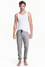 Patterned pyjama bottoms - Grey/Anchor - Men | H&M CN 1