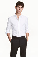 Easy-iron shirt Slim fit - White -  | H&M CN 1