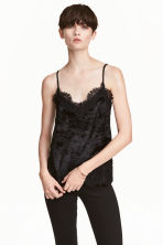 Top in velluto riccio - Nero - DONNA | H&M IT 1