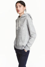 Hooded top - Grey marl - Ladies | H&M CN 1