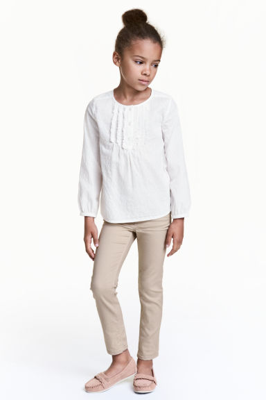 Twill trousers - Beige - Kids | H&M CN 1