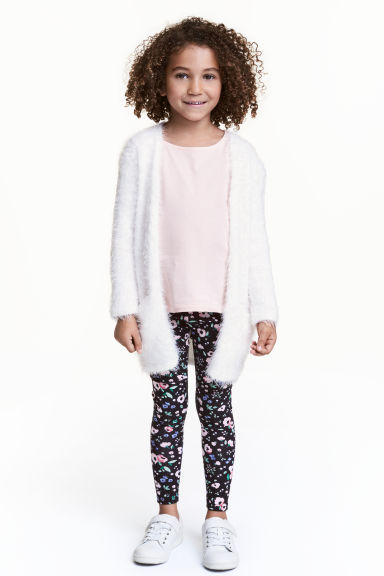 Printed leggings - Dark blue/Floral - Kids | H&M 1