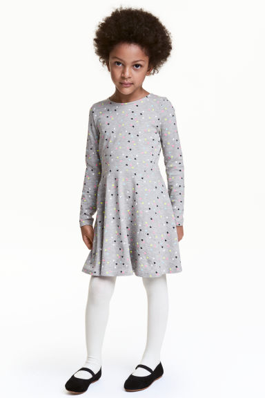 Jersey dress - Grey heart - Kids | H&M 1