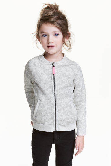 Bomber jacket - Grey/Butterflies - Kids | H&M 1