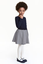 Circular skirt - Black/White/Striped - Kids | H&M 1