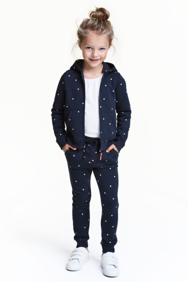 慢跑褲 - Dark blue/Spotted -  | H&M 1