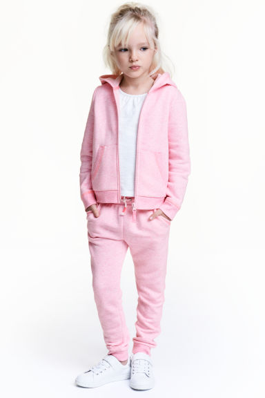 Sweatpants - Pink marl -  | H&M 1