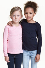 2-pack long-sleeved tops - Dark blue - Kids | H&M 1