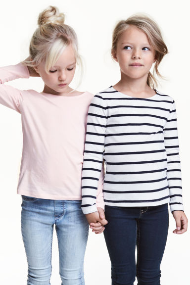 2-pack long-sleeved tops - Light pink -  | H&M