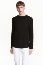 Rib-knit jumper - Black - Men | H&M 1