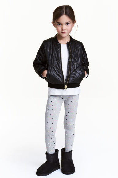 Jersey leggings - Grey heart - Kids | H&M 1