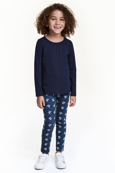 Leggings - Blue/Butterflies -  | H&M CN 1