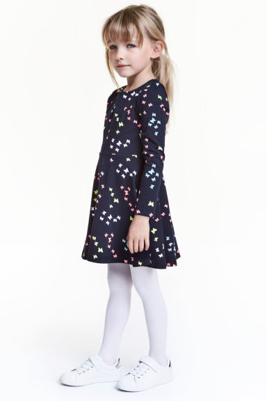 Jersey dress - Dark blue/Butterflies - Kids | H&M 1