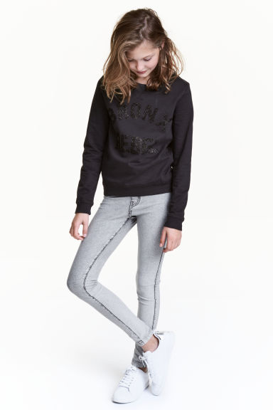 Treggings - Grey washed out -  | H&M 1