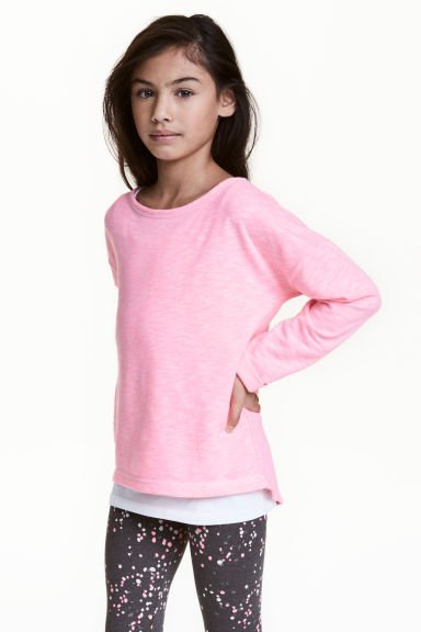 Sweat - Rose fluo chiné - ENFANT | H&M FR 1