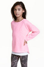 Sweat - Rose fluo chiné -  | H&M FR 1