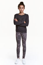 Jersey leggings - Dark grey -  | H&M CN 1