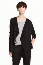 Fine-knit cardigan - Black -  | H&M CN 1