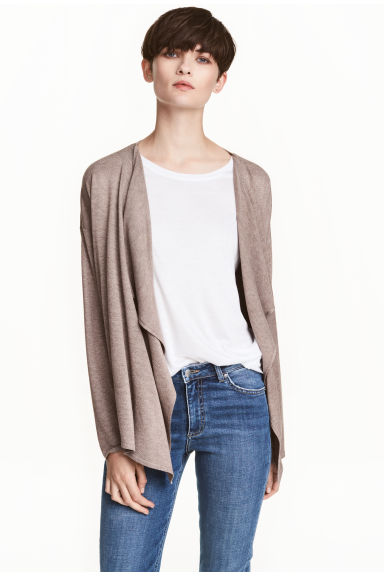 Fine-knit cardigan - Light mole - Ladies | H&M CN 1