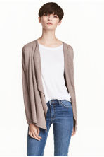 Fine-knit cardigan - Light mole - Ladies | H&M 1