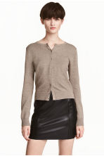 Fine-knit cotton cardigan - Mole - Ladies | H&M 1