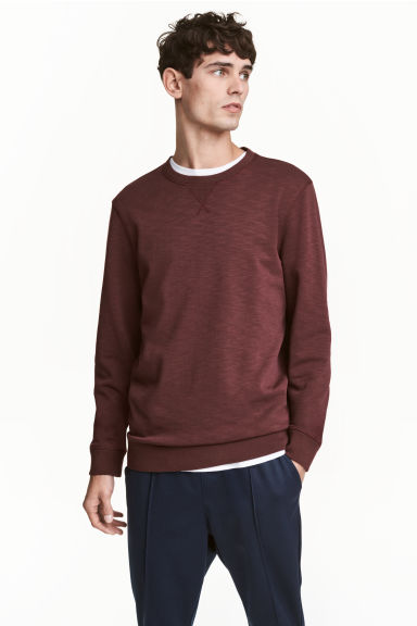 Sweatshirt - Burgundy marl - Men | H&M CN