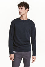Sweatshirt - Dark blue/Neps - Men | H&M 1
