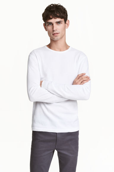 Waffled top - White - Men | H&M 1