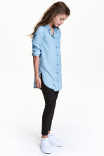 Lyocell denim shirt - Light denim blue - Kids | H&M CN 1